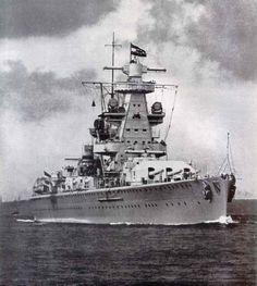German heavy cruiser, Admiral Scheer.