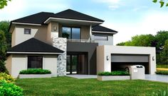 Escalade II is a spacious Double storey house with separate zones for parents and teenagers. The generous floor plan gives everyone. Contemporary House Plans, Modern House Plans, Modern House Design, 3 Storey House Design, Simple House Design, Double Storey House Plans, Double Story House, Modern House Facades, Luxury Homes Dream Houses