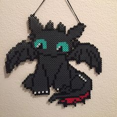 HTTYD Toothless perler beads by sabrinas_shinies
