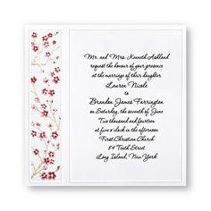Romantic Blossoms Wedding Invitations by TheAmericanWedding.com
