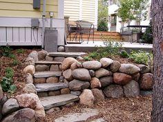 stone terracing.  I like the shape of the steps.  I've got a lot of little rocks.