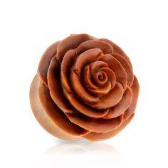 1Pair-3D-Beautiful-Rose-Saba-Wood-Ear-Plugs-Flower-Organic-Gauges-Piercing