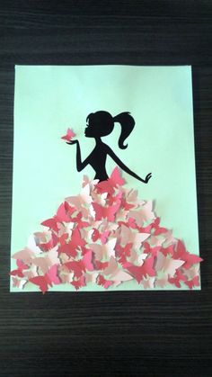 """Guest book - tree tree prints """"girl with butterflies"""" Diy And Crafts, Crafts For Kids, Arts And Crafts, Paper Crafts, Diy Quilling Crafts, Art Mural Papillon, 3d Tree, Guest Book Tree, Easy Halloween Crafts"""