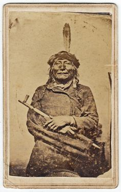 Yankton Sioux Indian - Bliss, Fort Sill Indian Territory. (c.1870).