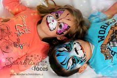Galerie 2014 - Sparkling Faces. Kinderschminken. Farbenverkauf. Kurse.
