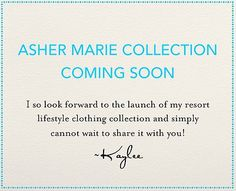 Asher Marie launches soon!