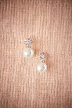 Beautiful pearl and diamond Witt drop earrings. (sponsored)