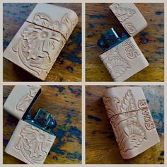 Zippo Leather Custom Leather Belts, Leather Art, Leather Gifts, Cigarette Box, Zippo Lighter, Leather Projects, Leather Accessories, Leather Working, Projects To Try