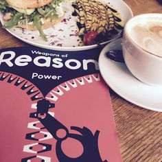 Best way to start the week: coffee, good food and the new stack delivery Weapons of Reason :) #stackmagazines #goodlife #monday #würzburg #zweiviertelbar