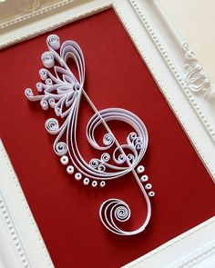 Treble Clef Art Frame Music Art Music Wall Art by Gericards