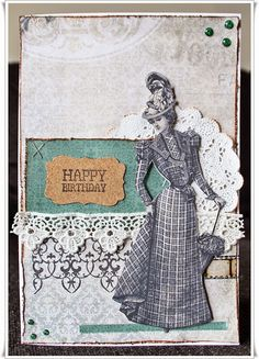 Scrappiness: Bursdagskort.