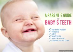 Baby teething guide. Did you know there are babies born with one tooth?