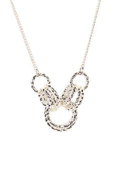 Deb Shops #silver short #necklace with multiple #rings
