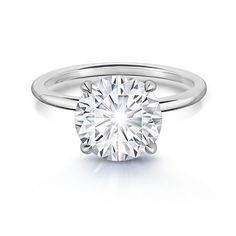 Round Cut Solitaire Engagement Ring in White Gold - Available Matchi Traditional Engagement Rings, Best Engagement Rings, Solitaire Engagement, One Carat Diamond, Diamond Solitaire Rings, Platinum Jewelry, Three Stone Rings, Eternity Bands, Wedding Bands