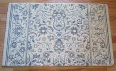 "Glamour Kashan Stair Runner Ivory 36"" Blue Ivory, Blue Grey, Patterned Stair Carpet, Carpet Stairs, Glamour, Traditional, Wool, Rugs, Inspiration"
