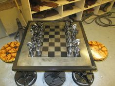 Picture of Car part chess set