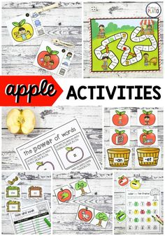Apple Activities that kids will love! This pack has it all- from writing, to shapes, ABC games and more! Perfect for literacy centers with kindergarten and first grade kids this fall. Anti Bullying Activities, Apple Activities, Autumn Activities For Kids, Preschool Learning Activities, Math For Kids, Kindergarten Centers, Math Literacy, Literacy Centers, Math Writing