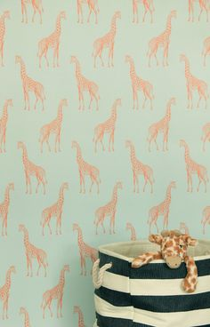 Giraffe Wallpaper | Nursery Idea | Infused With Coastal, Floral And  Wildlife Motifs, The