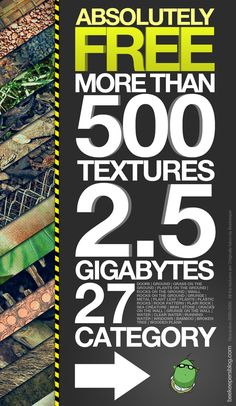 'Free Texture Pack' by Beekeeper , via Behance