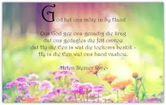 Afrikaanse Inspirerende Gedagtes & Wyshede: Helen Steiner Rice Inspirasies Helen Steiner Rice, Afrikaans, Image, Happy Birthday, Christian, Quotes, Happy Aniversary, Qoutes, Happy Brithday