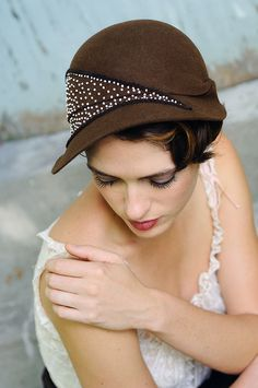 Behida Dolic Milinery Autumn in New York-made to order. $375.00, via Etsy.