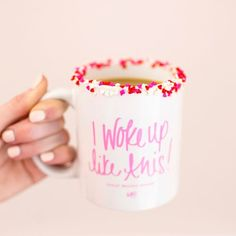 Heart shaped sprinkles for the win! ☕️ #iwokeuplikethis #friday #coffee #sprinkles #iloveABD