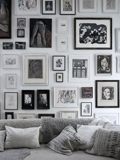 .a wall full of illustrations, yes please! More