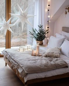 1001 nice concepts to create a comfy bed room with out Scandinavian Interior Bedroom, Decor Scandinavian, Interior Livingroom, Bedroom Modern, Bedroom Inspo, Bedroom Decor, Bedroom Curtains, Magical Bedroom, Comfy Bed