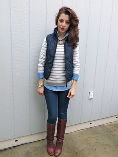 quilted vest - ideal outfit