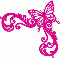 View Design #57461: butterfly corner flourish