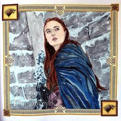 "131 Likes, 1 Comments - Kim Mazyck (@kimmazyck) on Instagram: ""WIP: Sansa Stark Book: Game of Thrones #色鉛筆:Prismacolor 我一買到就打開來畫了,我盡量還原演員Sophie…"""