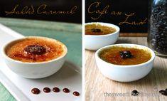 Salted Caramel and Cafe Au Lait Creme Brulee