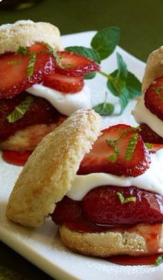 Food-Celebrations - Strawberry Shortcake Sliders - Walmart.com