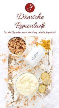 Dänische Rezepte, Rezepte aus Dänemark: Rezept für dänische Remoulade von herzelieb. Nur mit einer Remoulade mit Blumenkohl, Weißkohl und Zwiebel wird ein dänisches Hot Dog so richtig gut! Auch gut als Dip! #dänemark #dänisch #remoulade #dip Chutneys, Cabbage Recipes, World Recipes, Crackers, Nom Nom, Cooking, Hot, Germany, Vegetables