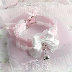 Choker Necklace ,Kitten Rule Play Collar, DDLG Princess White Lace Baby Pink Bow O Ring Bell , Cosplay Kitten Plar Gear Kawaii Jewelry Neko Kitten Play Gear, Kitten Play Collar, Pastel Goth Fashion, Kawaii Fashion, Neko, Fashion Eye Glasses, Kawaii Jewelry, Lace Bows, Girly Things