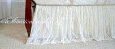Ivory Lace Crib Skirt by WHIMSICALandWITTY on Etsy https://www.etsy.com/listing/191217453/ivory-lace-crib-skirt