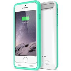 iPhone 6 Battery Case, Trianium Atomic S Portable Charger iPhone 6 Charging Cases (4.7 Inches)[White/ Turquoise][Lifetime Warranty]- 3100mAh External Protective Juice Power Bank [MFI Apple Certified]
