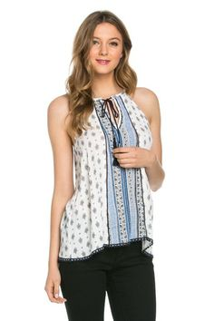 Bohemian Print Halter Top http://therusticrack.com/collections/tops/products/bohemian-print-top