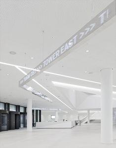 büro uebele // hypovereinsbank building, arabellapark signage system munich 2018