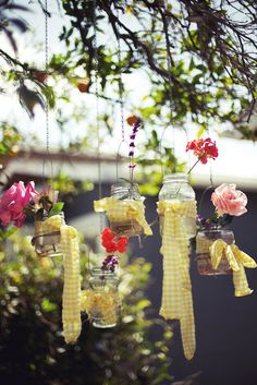 lovely hanging jars.