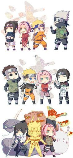 Chibi Mode - How Sasuke, Naruto and Sakura Grow Stronger! Team 7 ~ Kakashi, Team 7 ~ Yamaha, Team 7 Reborn!! <3