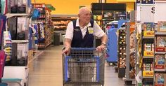 103 yr. old WWII vet, Loren Wade, still working at Walmart.  This will probably be me too soon enough... at least Walmart will hire the older folks