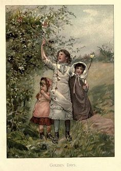 """From The Book, """"Christmas Roses"""" by Lizzie Lawson & Robert Ellice Mack ~ Lithographed & Printed by Ernest Nister of Luxembourg ~ via CharmaineZoe's Marvellous Melange Christmas Tree Fairy, Christmas Rose, Simple Christmas, Vintage Prints, Vintage Art, Antique Prints, Vintage Books, Old Children's Books, Decoupage"""