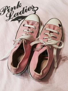 Vintage Pink All Star Converse Sneakers, Size 6 by JustClickThreeTimes on Etsy