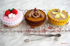 crochet food / cake box (+ free russian pattern)