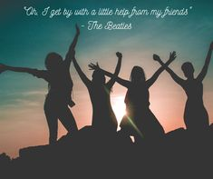 """""""Oh, I get by with a little help from my friends"""" - The Beatles #friends #support #happy #makeithappen #QOTD Bff Pics, Photos Bff, Videos Photos, Friend Photos, Family Beach Pictures, Friend Pictures, Beach Photos, Family Photos, Fun Photo"""