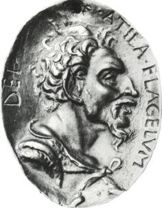 Attila the Hun. Bronze medal after an antique original (Louvre Museum). Louvre Museum, Attila The Hun, Champagne, Spanish Armada, Dark Ages, Roman Empire, Ancient History, Romans, All About Time