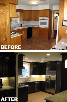 Before And After Diy Kitchen Makeover With Rustoleum