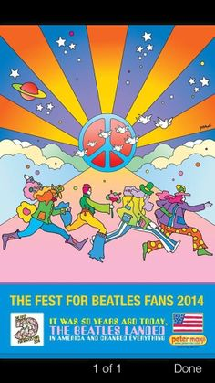Peter Max 2014 New York City Beatles Fest Exclusive by Oscartnmore, $99.99
