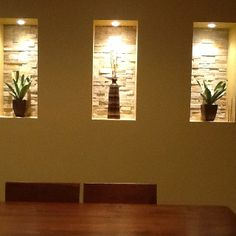 Wall niche ideas niches are built in to the wall for Dining room niche ideas